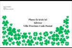 Pluie de trèfles de la Saint-Patrick Étiquettes d'adresse - gabarit prédéfini. <br/>Utilisez notre logiciel Avery Design & Print Online pour personnaliser facilement la conception.