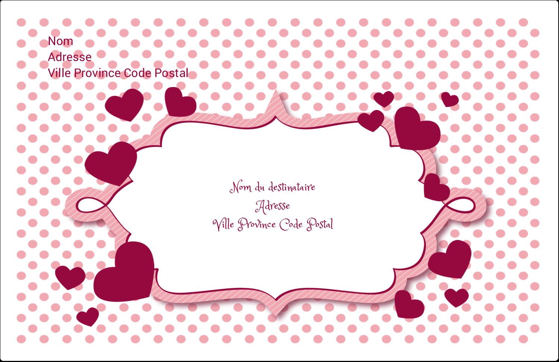 """1½"""" x 4"""" Étiquettes d'adresse - Bulles de Saint-Valentin"""
