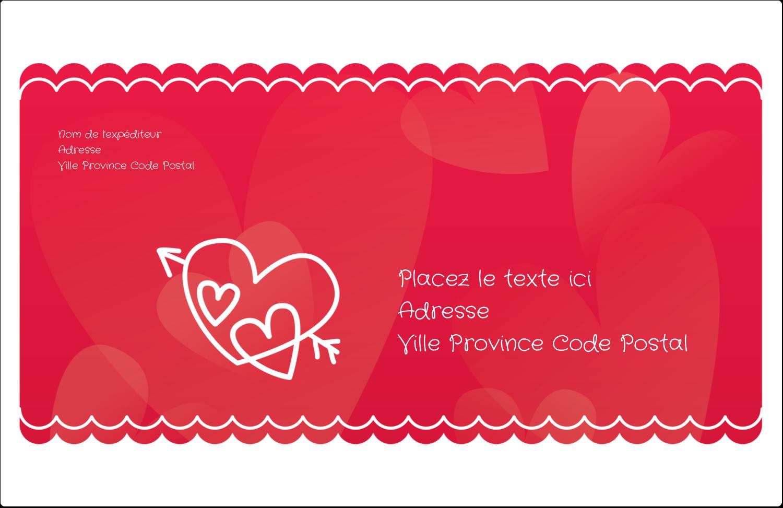 """1½"""" x 4"""" Étiquettes d'adresse - Dessin de la Saint-Valentin"""