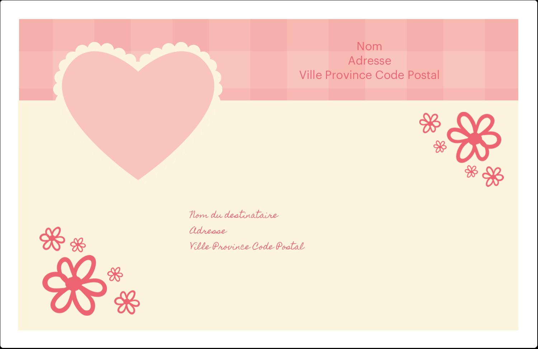 """1½"""" x 4"""" Étiquettes d'adresse - Guingan de la Saint-Valentin"""