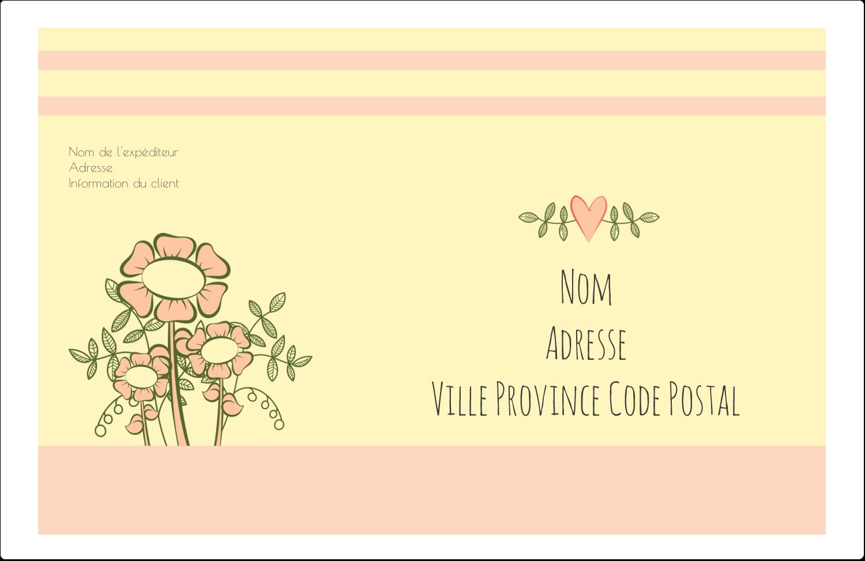 """1½"""" x 4"""" Étiquettes d'adresse - Dessin floral"""