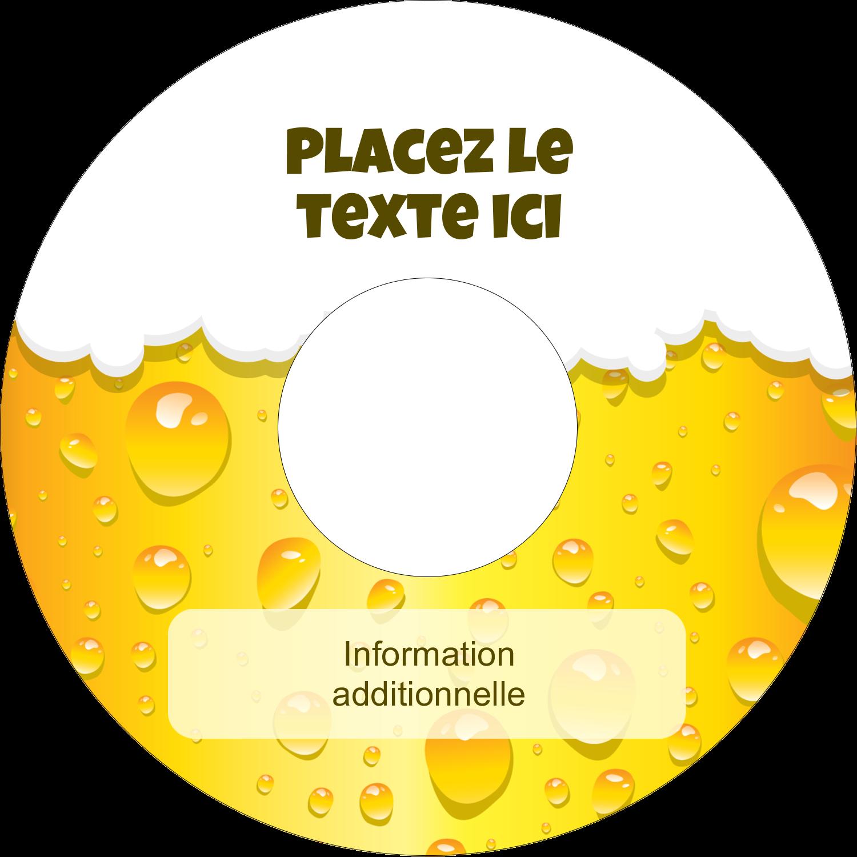 """⅔"""" x 3-7/16"""" Étiquettes de classement - Image de bière"""