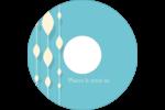 Rideau de perles bleues Étiquettes de classement - gabarit prédéfini. <br/>Utilisez notre logiciel Avery Design & Print Online pour personnaliser facilement la conception.