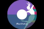 Danse en couleur Étiquettes Pour Médias - gabarit prédéfini. <br/>Utilisez notre logiciel Avery Design & Print Online pour personnaliser facilement la conception.