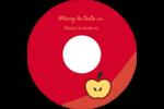 Pomme rouge Étiquettes Pour Médias - gabarit prédéfini. <br/>Utilisez notre logiciel Avery Design & Print Online pour personnaliser facilement la conception.
