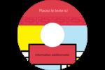 Carrés Mondrian rouges Étiquettes Pour Médias - gabarit prédéfini. <br/>Utilisez notre logiciel Avery Design & Print Online pour personnaliser facilement la conception.