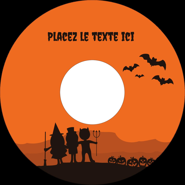 """⅔"""" x 3-7/16"""" Étiquettes de classement - Enfants à l'Halloween"""