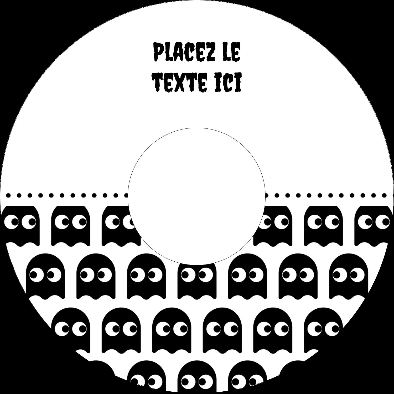 """⅔"""" x 3-7/16"""" Étiquettes de classement - Fantômes Pac-Man d'Halloween"""