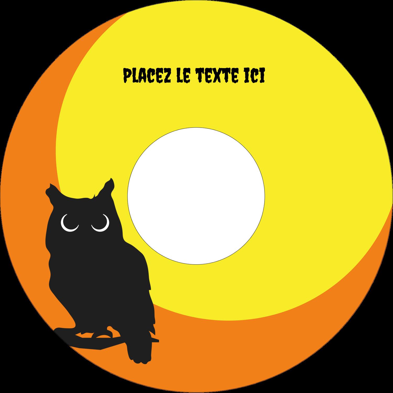 """⅔"""" x 3-7/16"""" Étiquettes de classement - Chouette d'Halloween"""