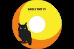 Chouette d'Halloween Étiquettes de classement - gabarit prédéfini. <br/>Utilisez notre logiciel Avery Design & Print Online pour personnaliser facilement la conception.