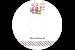 Quatre cadeaux Étiquettes Pour Médias - gabarit prédéfini. <br/>Utilisez notre logiciel Avery Design & Print Online pour personnaliser facilement la conception.