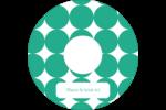 Cercles vert sarcelle Étiquettes de classement - gabarit prédéfini. <br/>Utilisez notre logiciel Avery Design & Print Online pour personnaliser facilement la conception.