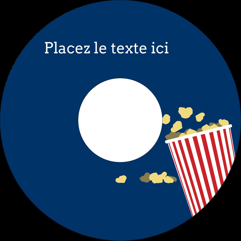 """⅔"""" x 3-7/16"""" Étiquettes de classement - Popcorn et film"""
