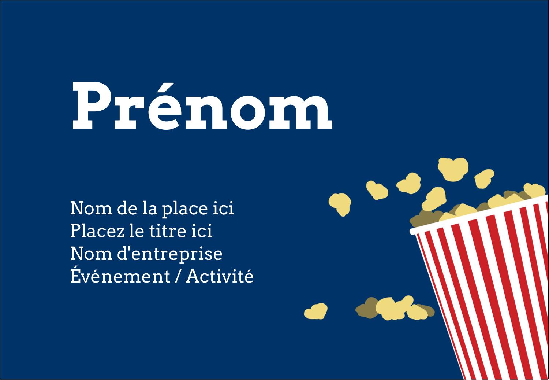 """1¼"""" Étiquettes à codage couleur - Popcorn et film"""
