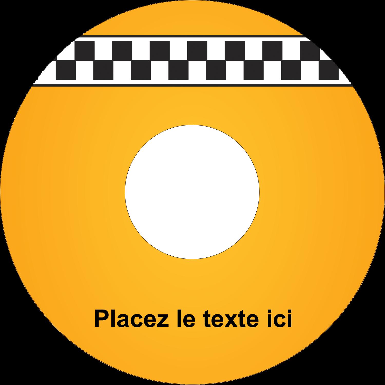 CD/DVD Étiquettes Pour Médias - Échiquier taxi