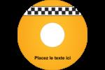 Échiquier taxi Étiquettes Pour Médias - gabarit prédéfini. <br/>Utilisez notre logiciel Avery Design & Print Online pour personnaliser facilement la conception.