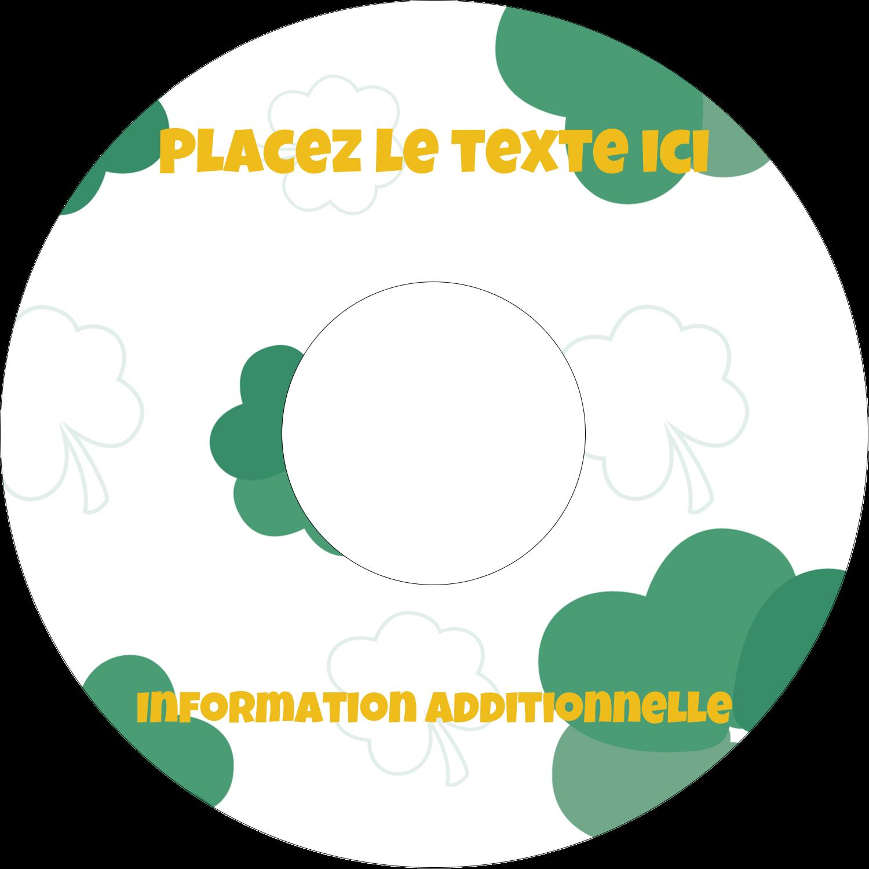 """⅔"""" x 3-7/16"""" Étiquettes de classement - Trèfles en cœur de la Saint-Patrick"""