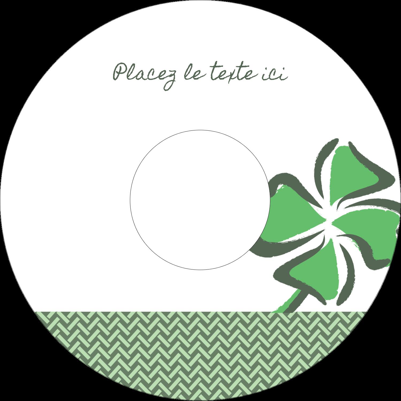 """⅔"""" x 3-7/16"""" Étiquettes de classement - Trèfle de la Saint-Patrick"""