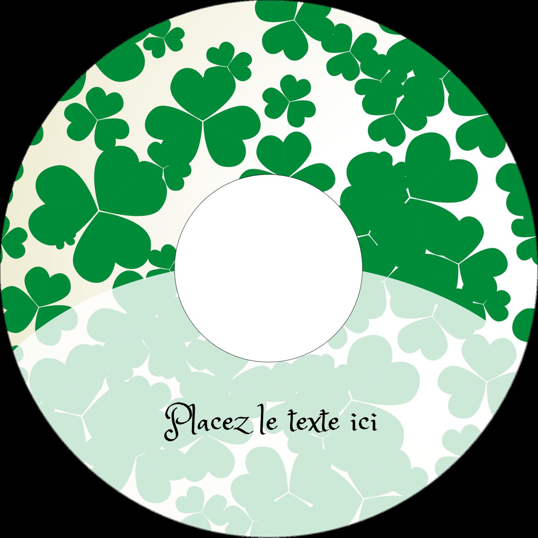"""⅔"""" x 3-7/16"""" Étiquettes de classement - Arrière-plan de trèfles de la Saint-Patrick"""