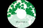 Arrière-plan de trèfles de la Saint-Patrick Étiquettes de classement - gabarit prédéfini. <br/>Utilisez notre logiciel Avery Design & Print Online pour personnaliser facilement la conception.