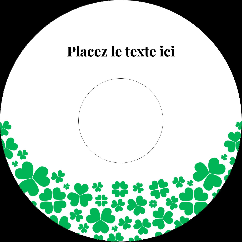 """⅔"""" x 3-7/16"""" Étiquettes de classement - Pluie de trèfles de la Saint-Patrick"""