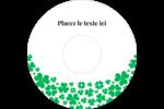 Pluie de trèfles de la Saint-Patrick Étiquettes de classement - gabarit prédéfini. <br/>Utilisez notre logiciel Avery Design & Print Online pour personnaliser facilement la conception.