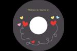 Saint-Valentin sur fond noir Étiquettes de classement - gabarit prédéfini. <br/>Utilisez notre logiciel Avery Design & Print Online pour personnaliser facilement la conception.