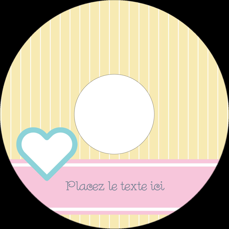 """⅔"""" x 3-7/16"""" Étiquettes de classement - Cœur bleu"""