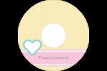 Cœur bleu Étiquettes de classement - gabarit prédéfini. <br/>Utilisez notre logiciel Avery Design & Print Online pour personnaliser facilement la conception.