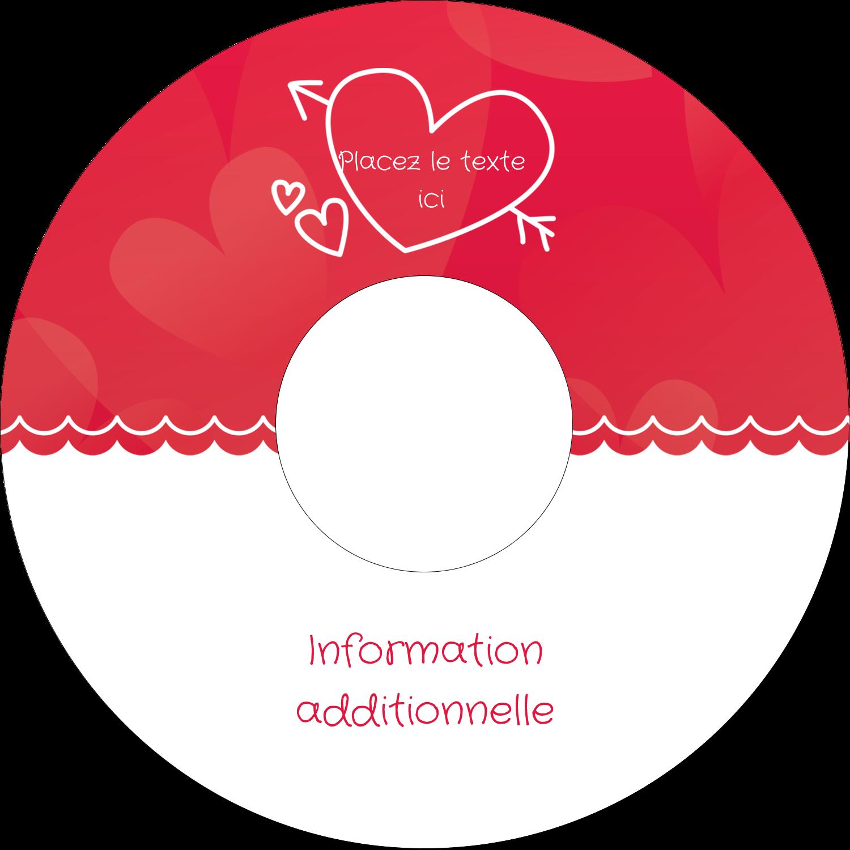 "⅔"" x 3-7/16"" Étiquettes de classement - Dessin de la Saint-Valentin"