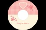 Guingan de la Saint-Valentin Étiquettes de classement - gabarit prédéfini. <br/>Utilisez notre logiciel Avery Design & Print Online pour personnaliser facilement la conception.