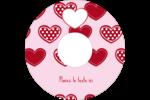 Cœur de Saint-Valentin Étiquettes de classement - gabarit prédéfini. <br/>Utilisez notre logiciel Avery Design & Print Online pour personnaliser facilement la conception.