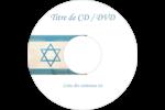 Étoile de David religieuse Étiquettes Pour Médias - gabarit prédéfini. <br/>Utilisez notre logiciel Avery Design & Print Online pour personnaliser facilement la conception.