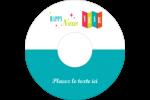 Vœux du nouvel an rétro Étiquettes Pour Médias - gabarit prédéfini. <br/>Utilisez notre logiciel Avery Design & Print Online pour personnaliser facilement la conception.