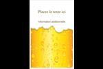 Image de bière Reliures - gabarit prédéfini. <br/>Utilisez notre logiciel Avery Design & Print Online pour personnaliser facilement la conception.