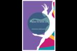 Danse en couleur Cartes Et Articles D'Artisanat Imprimables - gabarit prédéfini. <br/>Utilisez notre logiciel Avery Design & Print Online pour personnaliser facilement la conception.