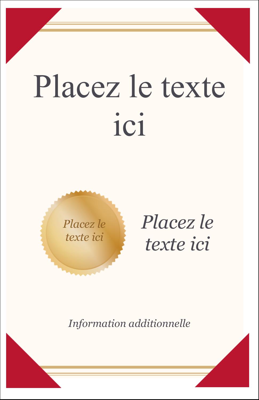 "8½"" x 11"" Binder Insert Reliures - Diplôme d'études"