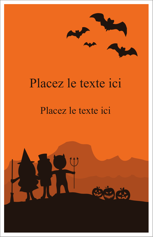"8½"" x 11"" Binder Insert Reliures - Enfants à l'Halloween"