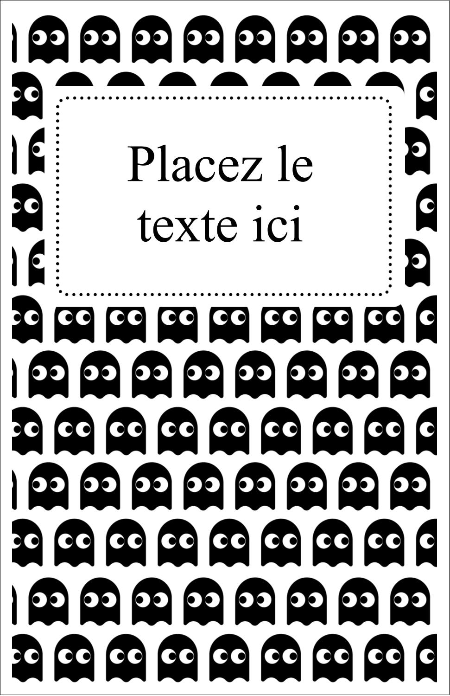 "8½"" x 11"" Binder Insert Reliures - Fantômes Pac-Man d'Halloween"