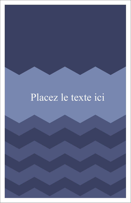 "8½"" x 11"" Binder Insert Reliures - Chevron bleu"