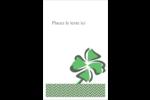 Trèfle de la Saint-Patrick Reliures - gabarit prédéfini. <br/>Utilisez notre logiciel Avery Design & Print Online pour personnaliser facilement la conception.