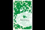 Arrière-plan de trèfles de la Saint-Patrick Reliures - gabarit prédéfini. <br/>Utilisez notre logiciel Avery Design & Print Online pour personnaliser facilement la conception.