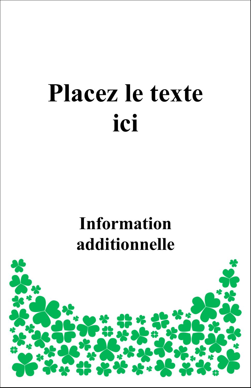 """8½"""" x 11"""" Binder Insert Reliures - Pluie de trèfles de la Saint-Patrick"""