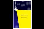 Projecteur sur fond bleu Cartes Et Articles D'Artisanat Imprimables - gabarit prédéfini. <br/>Utilisez notre logiciel Avery Design & Print Online pour personnaliser facilement la conception.