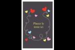 Saint-Valentin sur fond noir Reliures - gabarit prédéfini. <br/>Utilisez notre logiciel Avery Design & Print Online pour personnaliser facilement la conception.