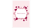 Bulles de Saint-Valentin Reliures - gabarit prédéfini. <br/>Utilisez notre logiciel Avery Design & Print Online pour personnaliser facilement la conception.
