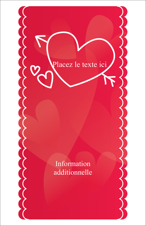 "8½"" x 11"" Binder Insert Reliures - Dessin de la Saint-Valentin"