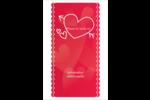 Dessin de la Saint-Valentin Reliures - gabarit prédéfini. <br/>Utilisez notre logiciel Avery Design & Print Online pour personnaliser facilement la conception.