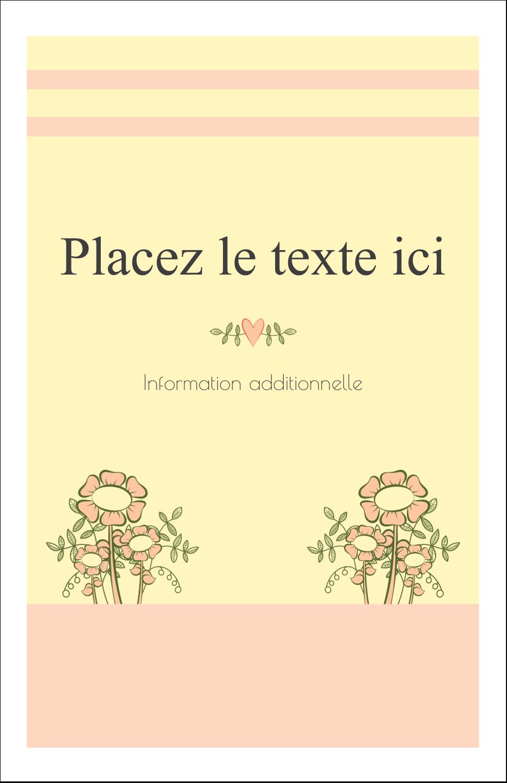 """8½"""" x 11"""" Binder Insert Reliures - Dessin floral"""