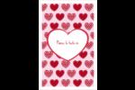Cœur de Saint-Valentin Reliures - gabarit prédéfini. <br/>Utilisez notre logiciel Avery Design & Print Online pour personnaliser facilement la conception.